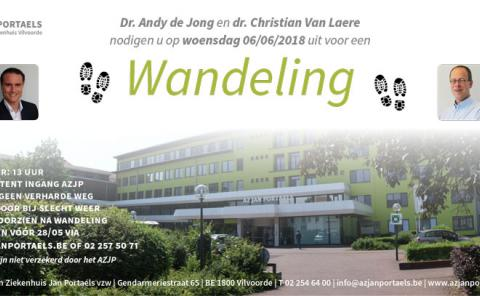 Uitnodiging wandeling AZ Jan Portaels