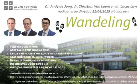 Uitnodiging wandeling AZ Jan Portaels 2019